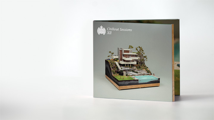 CDのジャケットの為に制作されたミニチュア建築のジオラマ2
