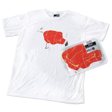 食品のようにパッケージングされたTシャツ。1