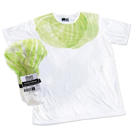 食品のようにパッケージングされたTシャツ。3