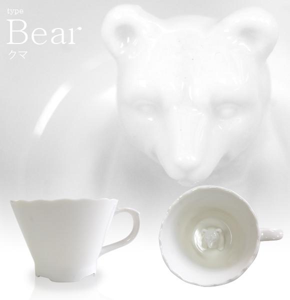飲むほどにかわいらしい動物が顔をのぞかせるマグカップ「Hidden Animal Teacup」4
