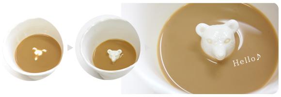 飲むほどにかわいらしい動物が顔をのぞかせるマグカップ「Hidden Animal Teacup」11