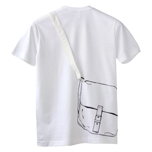 Tシャツブランド「シキサイ」の遊び心満載のTシャツ その3「カバン」