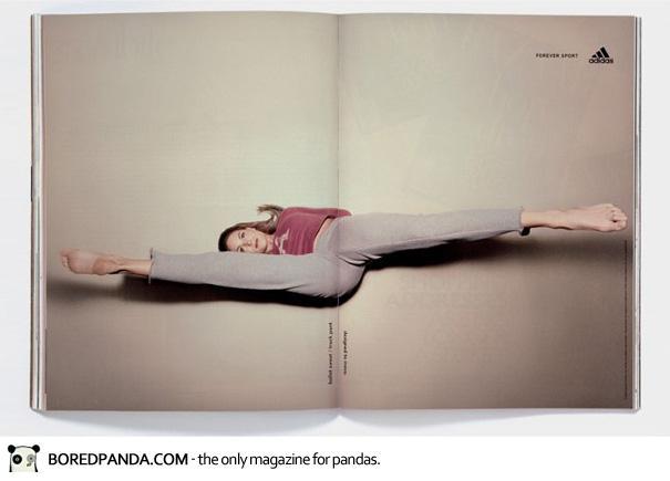 【世界の広告】雑誌の見開きを見事に利用したクリエイティブな広告5