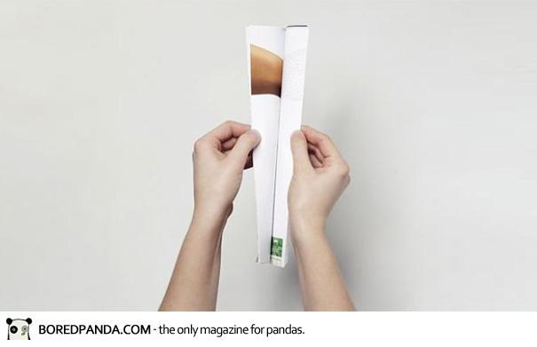 【世界の広告】雑誌の見開きを見事に利用したクリエイティブな広告13
