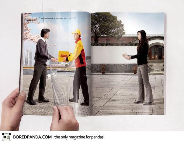 【世界の広告】雑誌の見開きを見事に利用したクリエイティブな広告10