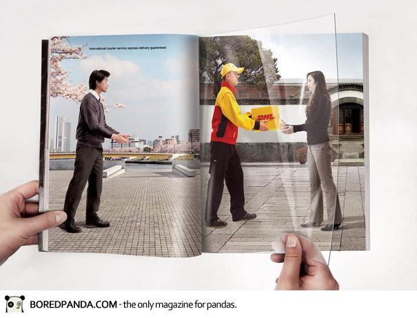【世界の広告】雑誌の見開きを見事に利用したクリエイティブな広告11