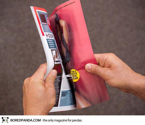 【世界の広告】雑誌の見開きを見事に利用したクリエイティブな広告22