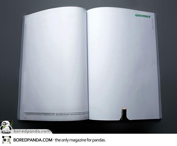 【世界の広告】雑誌の見開きを見事に利用したクリエイティブな広告2