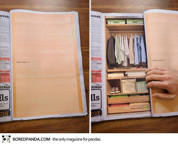 【世界の広告】雑誌の見開きを見事に利用したクリエイティブな広告21