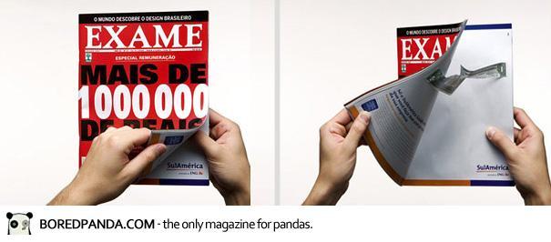 【世界の広告】雑誌の見開きを見事に利用したクリエイティブな広告15