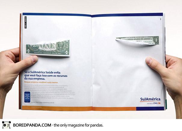 【世界の広告】雑誌の見開きを見事に利用したクリエイティブな広告16