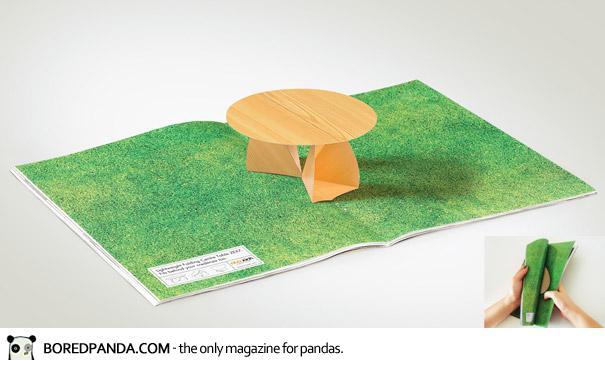 【世界の広告】雑誌の見開きを見事に利用したクリエイティブな広告28
