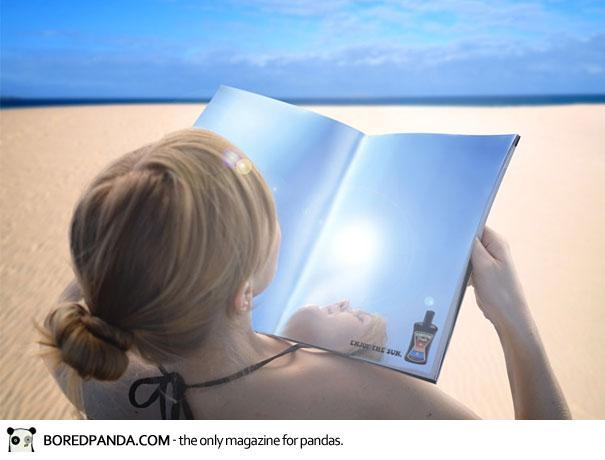 【世界の広告】雑誌の見開きを見事に利用したクリエイティブな広告18
