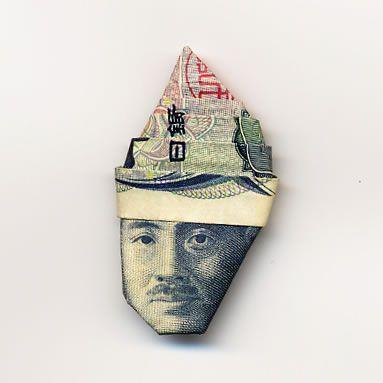 お札でつくった折り紙アート13