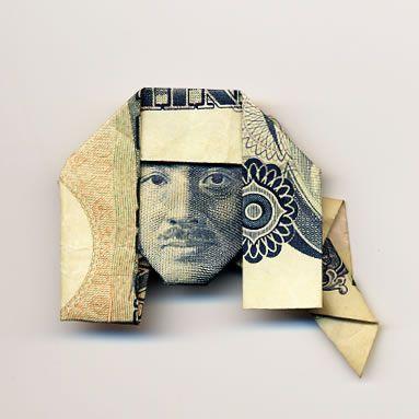 お札でつくった折り紙アート2