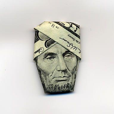 お札でつくった折り紙アート11