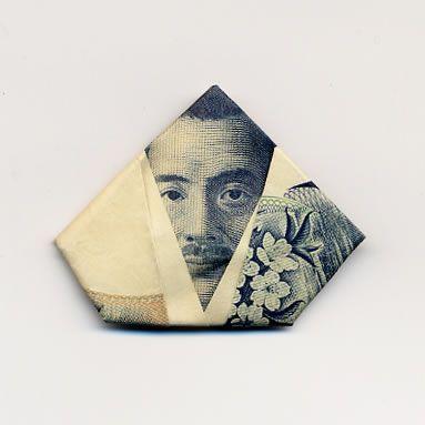 お札でつくった折り紙アート14