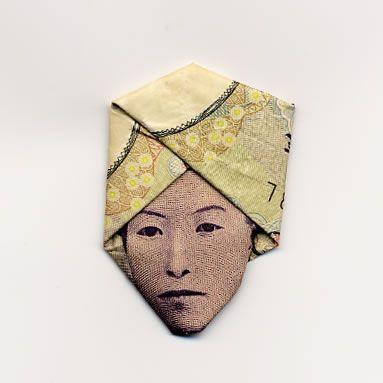 お札でつくった折り紙アート6