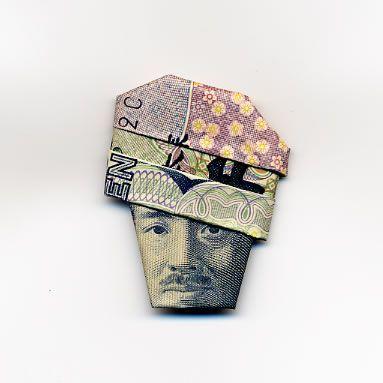 お札でつくった折り紙アート その2 19