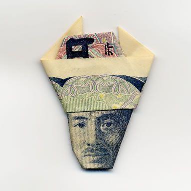 お札でつくった折り紙アート その2 8