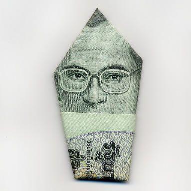 お札でつくった折り紙アート その2 1