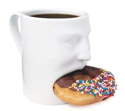 コーヒーとクッキーを同時に楽しめるマグカップFace Mug2