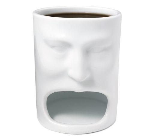 コーヒーとクッキーを同時に楽しめるマグカップFace Mug3