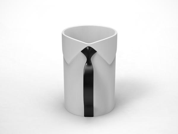 男性のネクタイをモチーフにしたマグカップMug Man4