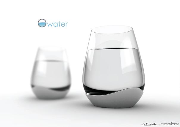 ひとつのグラスで4種類の飲み方が出来るグラス1