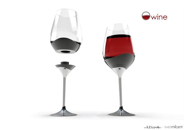 ひとつのグラスで4種類の飲み方が出来るグラス2