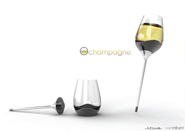 ひとつのグラスで4種類の飲み方が出来るグラス3