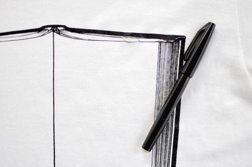 Tシャツブランド「シキサイ」の遊び心満載のTシャツ「ペンとノート」7