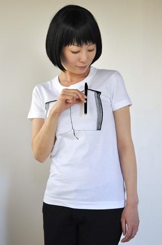 Tシャツブランド「シキサイ」の遊び心満載のTシャツ「ペンとノート」4