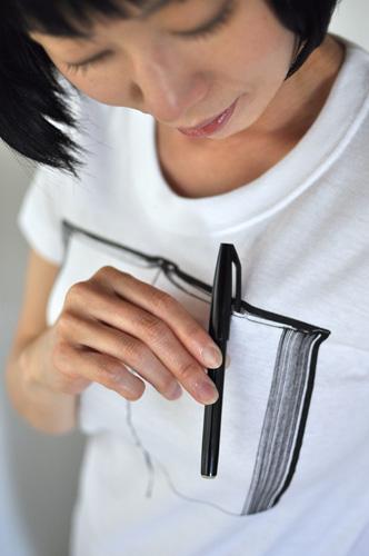 Tシャツブランド「シキサイ」の遊び心満載のTシャツ「ペンとノート」5