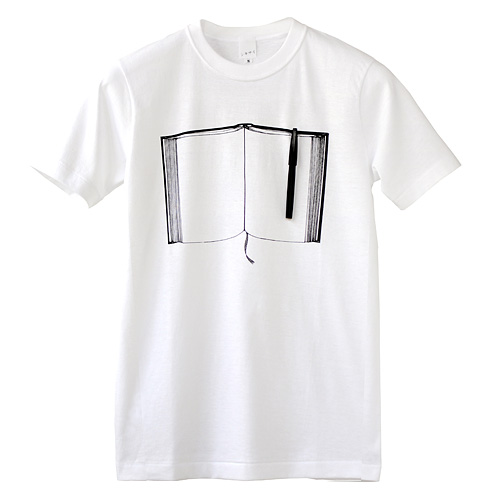 Tシャツブランド「シキサイ」の遊び心満載のTシャツ「ペンとノート」