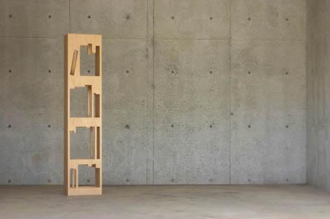 パズル感覚で楽しく本を片付けることの出来る本棚