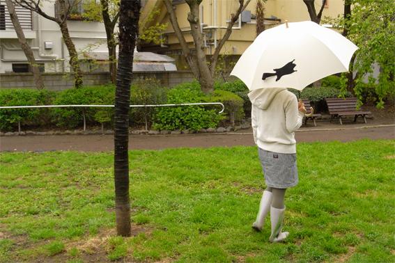 動物のしっぽのような傘のバンド5