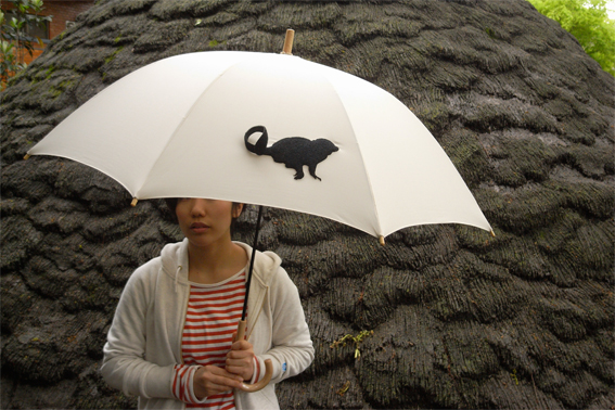 動物のしっぽのような傘のバンド6