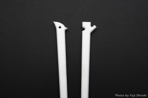 キツツキと木の形になっているマイ箸1