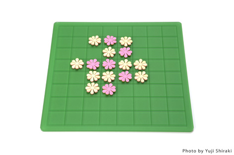 """白と黒ではなく、置く毎に花を咲かせるオセロ(リバーシ)""""garden""""3"""