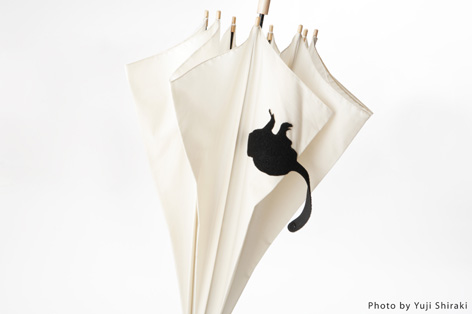 動物のしっぽのような傘のバンド2