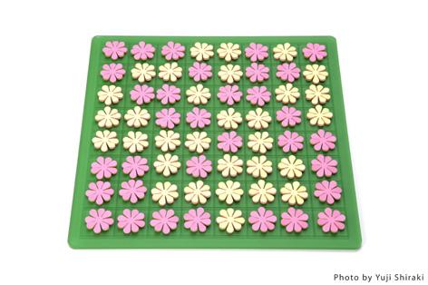 """白と黒ではなく、置く毎に花を咲かせるオセロ(リバーシ)""""garden""""5"""