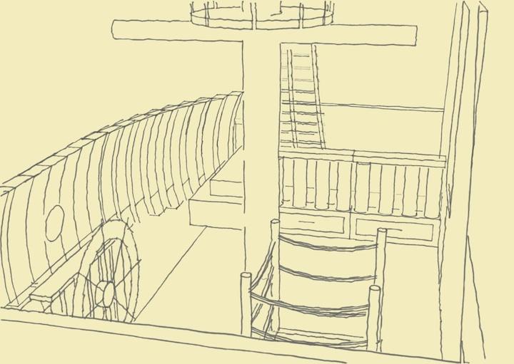 まさかこれは飛空艇?気分は海賊。目指せワンピース!部屋の中に空飛ぶ海賊船がある家。13