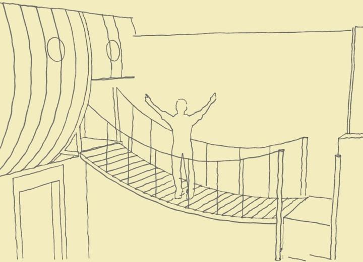 まさかこれは飛空艇?気分は海賊。目指せワンピース!部屋の中に空飛ぶ海賊船がある家。14
