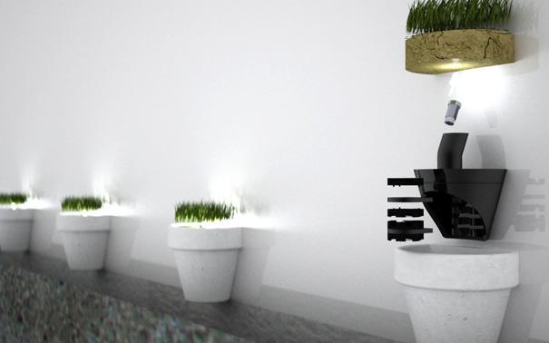 光によって花を咲かせる植木鉢2