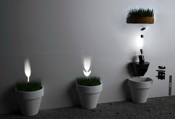 光によって花を咲かせる植木鉢3