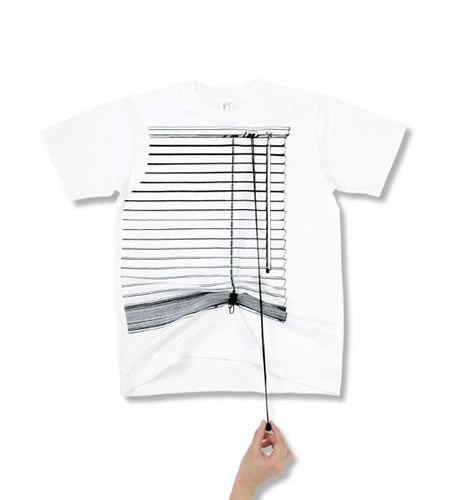 Tシャツブランド「シキサイ」の遊び心満載のTシャツ「ブラインド」2