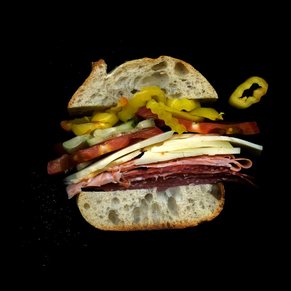 美味しそうなサンドウィッチの断面図19