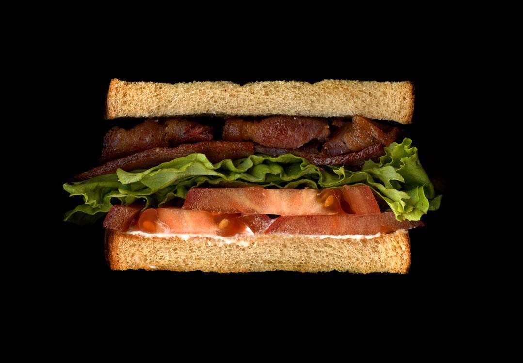 美味しそうなサンドウィッチの断面図18
