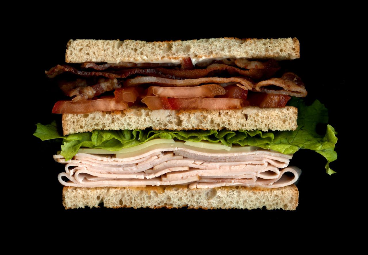 美味しそうなサンドウィッチの断面図17